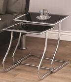 Coaster 901090 NESTING TABLE (BLACK/CHROME)