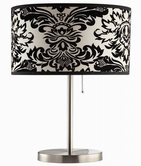 Coaster 901277 TABLE LAMP (NICKEL)
