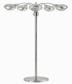 Coaster 901440 FLOOR LAMP (BRUSHED STEEL)