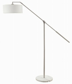 Coaster 901485 FLOOR LAMP (WHITE/CHROME)