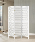 Coaster 901908 FOLDING SCREEN (WHITE/GREY)