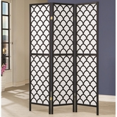 Coaster 901910 FOLDING SCREEN (BLACK/WHITE)