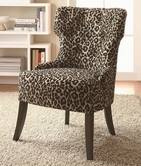 Coaster 902066 ACCENT CHAIR (LEOPARD PATTERN)