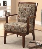 Coaster 902080 ACCENT CHAIR (GEOMETRIC CIRCLE PATTERN)