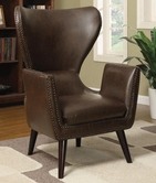 Coaster 902089 ACCENT CHAIR (BROWN)
