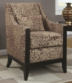 Coaster 902090 ACCENT CHAIR (GIRAFFE PATTERN)