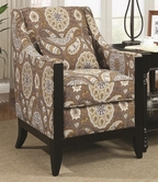 Coaster 902091 ACCENT CHAIR (COUNTRY PAISLEY PATTERN)