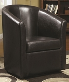 Coaster 902098 SWIVEL CHAIR (DARK BROWN)