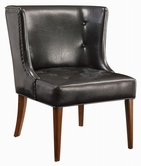 Coaster 902102 ACCENT CHAIR (BLACK)