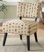 Coaster 902115 ACCENT CHAIR (CHINESE SCRIPT PATTERN)