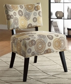 Coaster 902116 ACCENT CHAIR (SWIRL PATTERN)
