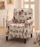 Coaster 902131 ACCENT CHAIR (FLORAL PATTERN)
