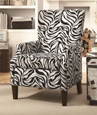 Coaster 902135 ACCENT CHAIR (ZEBRA PATTERN)