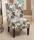 Coaster 902140 ACCENT CHAIR (GREY FLORAL PATTERN)