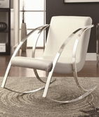 Coaster 902147 CASUAL CHAIR (PEARLESCENT WHITE)