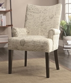 Coaster 902149 ACCENT CHAIR (GEOMETRIC CIRCLE PATTERN)
