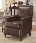 Coaster 902157 ACCENT CHAIR (BROWN)