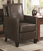 Coaster 902174 ACCENT CHAIR (BROWN)