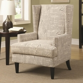 Coaster 902180 ACCENT CHAIR (BEIGE)