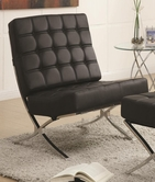 Coaster 902181 ACCENT CHAIR (BLACK/CHROME)