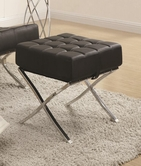 Coaster 902182 OTTOMAN (BLACK/CHROME)