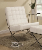 Coaster 902183 ACCENT CHAIR (WHITE/CHROME)