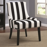 Coaster 902188 ACCENT CHAIR (BLACK/WHITE)