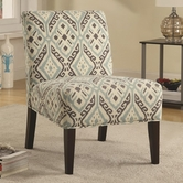 Coaster 902191 ACCENT CHAIR (BEIGE/BROWN/TEAL)