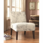 Coaster 902193 ACCENT CHAIR (BEIGE/WHITE)