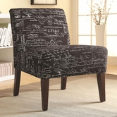 Coaster 902197 ACCENT CHAIR (BLACK)
