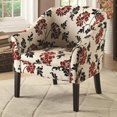 Coaster 902207 ACCENT CHAIR (RED/WHITE/BLACK)