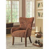 Coaster 902212 ACCENT CHAIR (BURNT ORANGE/BLACK)