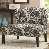Coaster 902231 ACCENT CHAIR (BLACK/GREY)