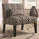 Coaster 902234 ACCENT CHAIR (GREY/BLACK/RED)