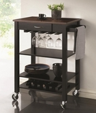 Coaster 910026 KITCHEN CART (BLACK/CHERRY)