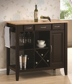Coaster 910028 KITCHEN CART (NATURAL/CAPPUCCINO)