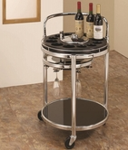 Coaster 910071 SERVING CART (BLACK)
