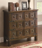 Coaster 950104 ACCENT CABINET (WARM BROWN)