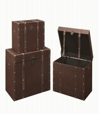 Coaster 950164 STORAGE TRUNK SET (BROWN)