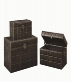 Coaster 950166 STORAGE TRUNK SET (DARK BROWN)