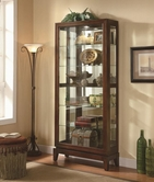 Coaster 950174 CURIO CABINET (DARK CHERRY)