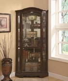 Coaster 950175 CORNER CURIO CABINET (BROWN)