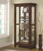 Coaster 950187 CURIO CABINET (MEDIUM BROWN)