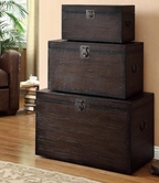 Coaster 950200 STORAGE TRUNK SET (COFFEE)