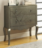 Coaster 950209 ACCENT CABINET (GOLDEN SILVER)