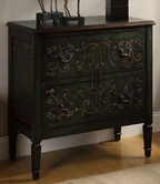 Coaster 950213 ACCENT CABINET (ANTIQUE GREEN)