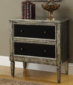 Coaster 950229 ACCENT CABINET (MARBLED GOLD/BLACK)