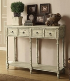 Coaster 950230 CONSOLE TABLE (ANTIQUE IVORY)