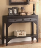 Coaster 950259 CONSOLE TABLE (RUBBED THROUGH BLACK)