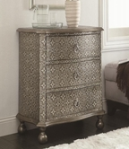 Coaster 950263 ACCENT CABINET (ANTIQUE SILVER)